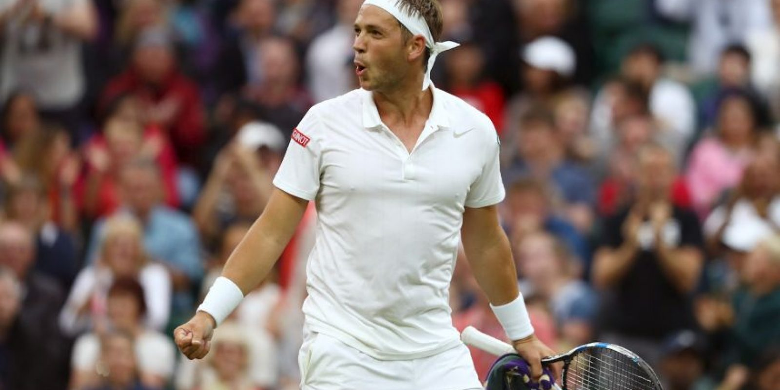 De pasar a ser un profesor de tenis por hora, llegó al cuadro principal de Wimbledon y enfrentó a Roger Federer Foto:Getty Images