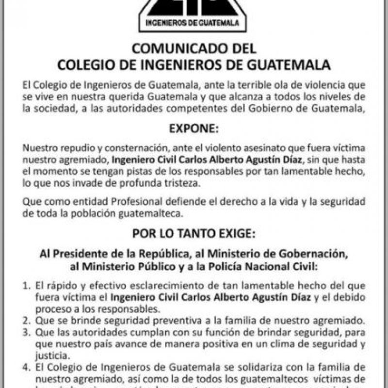 Foto:Colegio de Ingenieros de Guatemala