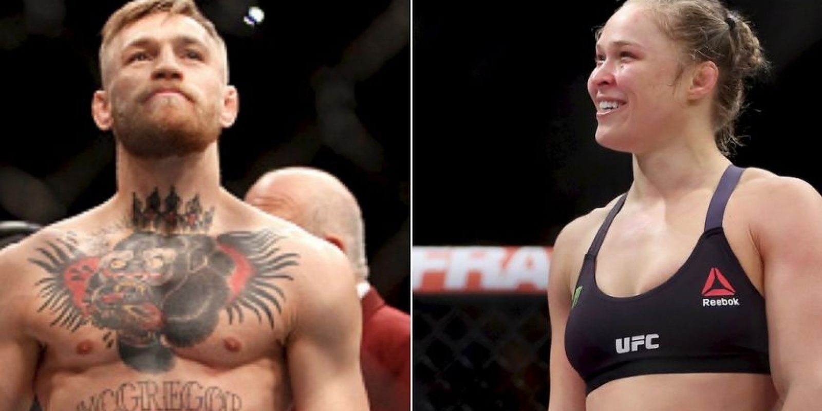 Conor McGregor se enfrenta a Ronda Rousey en la jaula Foto:Getty Images