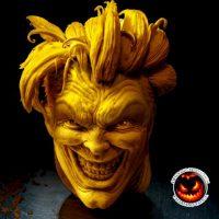 """""""The Joker"""" (escultura en queso) Foto:Facebook/ValerianoFatica88"""