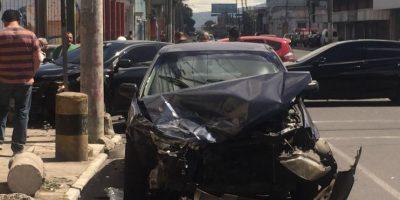 Diputado César Fajardo involucrado en aparatoso accidente