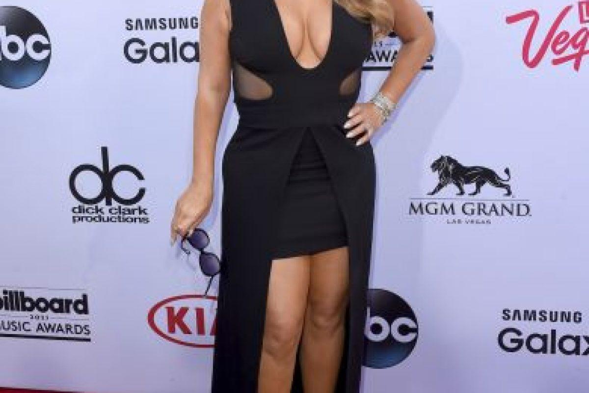 Mariah Carey también es de las celebs que luce su pecho sin sostén Foto:Getty Images