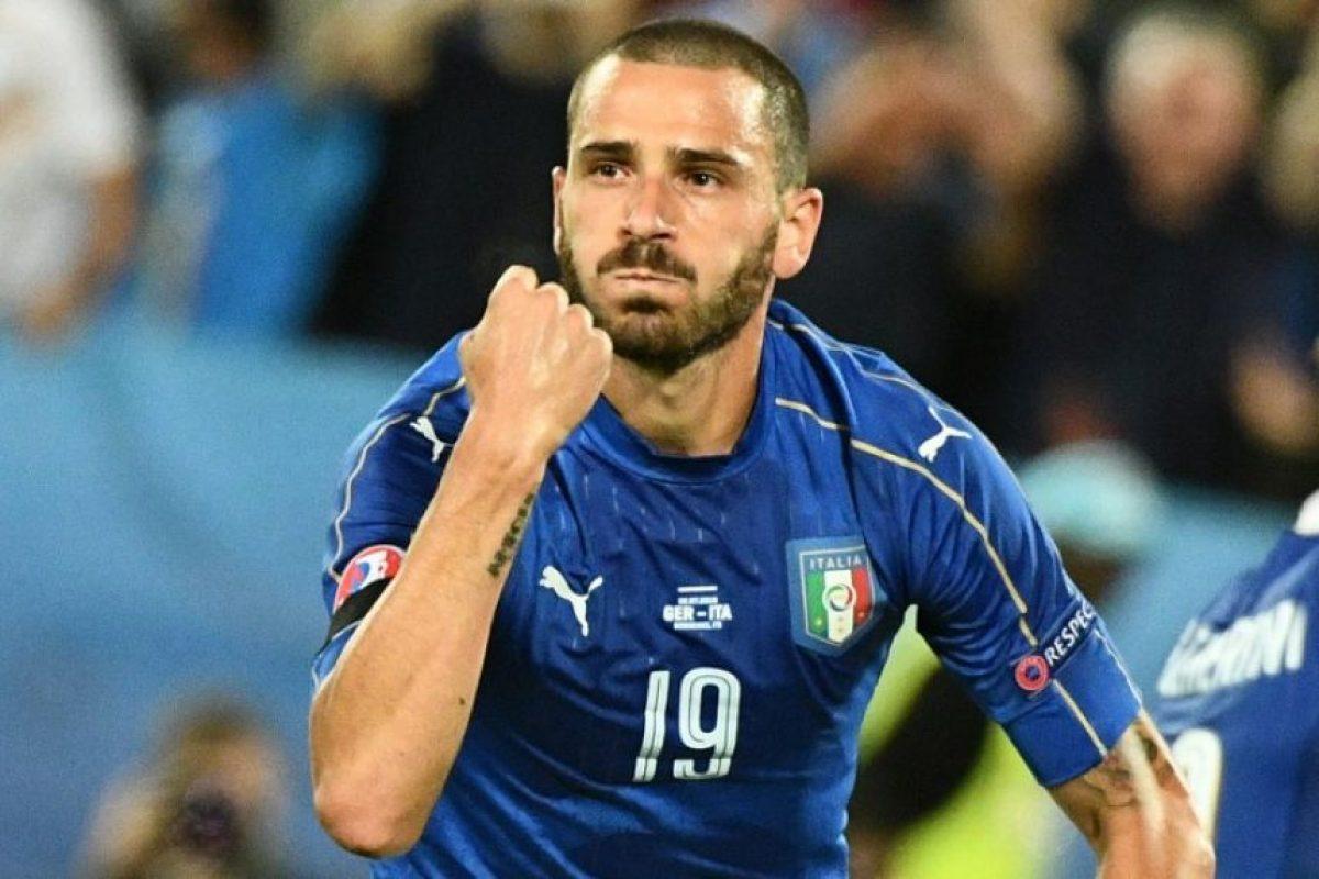 Leonardo Bonucci celebra tras anotar un gol. Foto:AFP