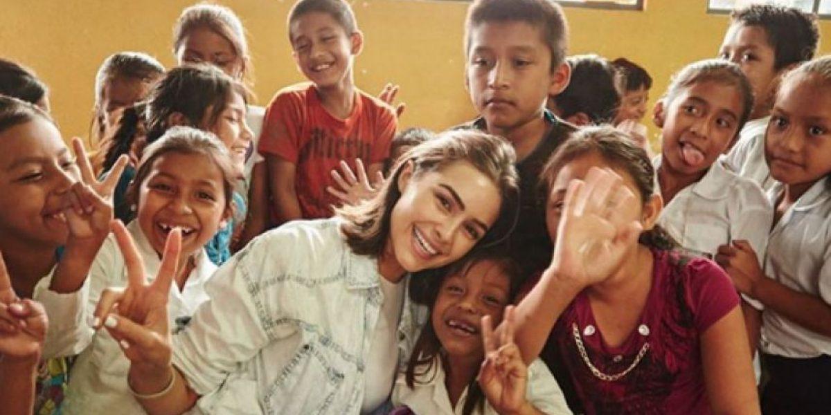Ex Miss Universo, Olivia Culpo, visitó Guatemala para construir una escuela