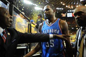Nueve años estuvo Kevin Durant en Oklahoma City Thunders Foto:Getty Images