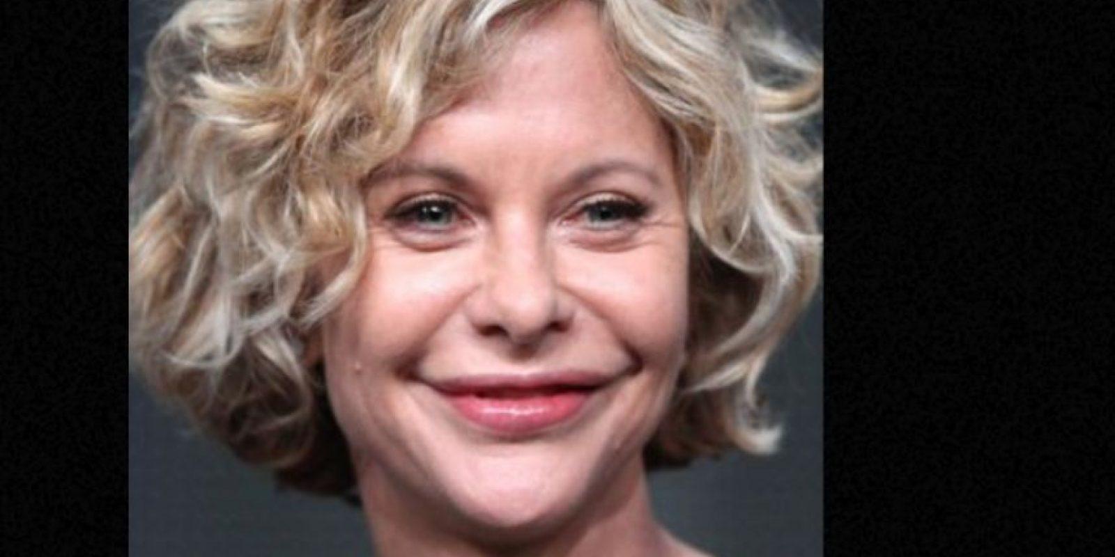 Meg Ryan cambió su cara angelical por el bótox. Foto:vía Getty Images
