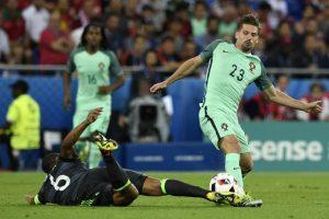 Portugal y Ronaldo le ganaron la partida a Bale y Gales en la primera semifinal. Foto:AFP