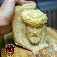 """""""Jesus"""" (escultura en queso) Foto:Facebook/ValerianoFatica88"""