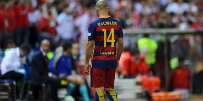El caso de Javier Mascherano fue igual de mediático que el de Lionel Messi y también fue por delito fiscal. El trasandino fue condenado a 12 meses de cárcel, pero no pagará con presidio Foto:Getty Images