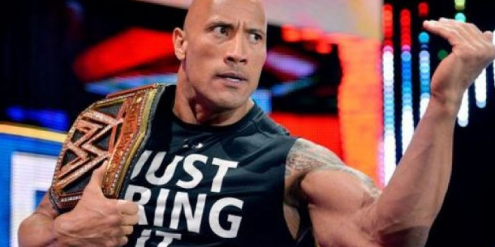 "WWE quiso registrar la frase ""Just bring it"" para vender mercancía oficial Foto: Vía instagram.co/therock"