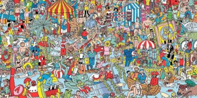 "Y aprovechamos para mostrarte un clásico, ¿pueden encontrar a Wally? Foto: ""Where's Wally"""