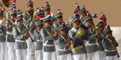La banda de un colegio guatemalteco fue invitada a participar en festividades religiosas de Nicaragua
