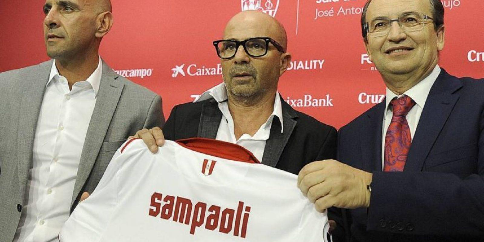 Jorge Sampaoli fue presentado en Sevilla Foto:Instagram Sevilla