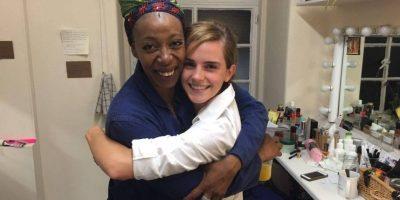 """Emma Watson conoció a la actriz que interpreta a """"Hermione"""" pero en la edad adulta y como la nueva Ministro de Magia."""