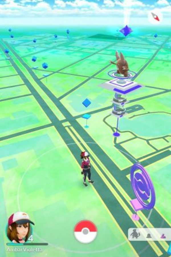 Este es el mapa del juego. Foto:Pokémon Go