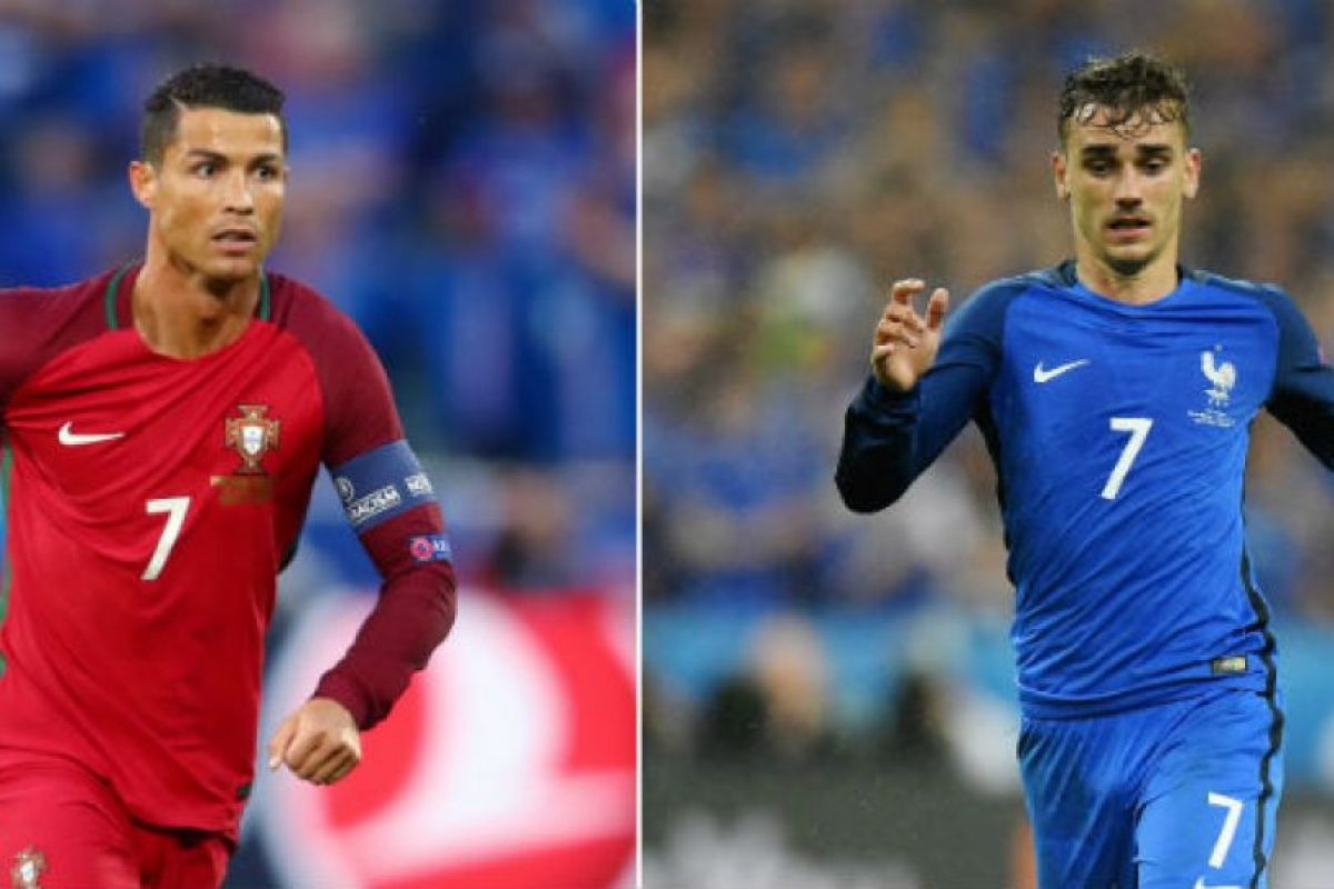 Cristiano Ronaldo vs Antoine Griezmann, solo uno se vestirá de gloria Foto:Getty Images