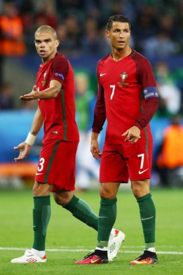 Pepe y Cristiano Ronaldo van por el título de la Eurocopa Foto:Getty Images