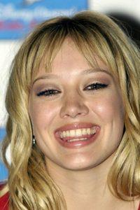 Hilary Duff ya era figura adolescente cuando le tomaron esta foto. Foto:vía Getty Images