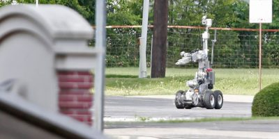 El robot antibombas llevaba un dispositivo explosivo Foto: Getty Images
