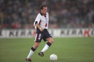 1997: Fue una de las piezas claves en la clasificación de Inglaterra rumbo a Francia 1998 Foto:Getty Images