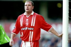 1998: Gazza deja Glasgow Rangers para fichar en Middlesbrough Foto: Getty Images