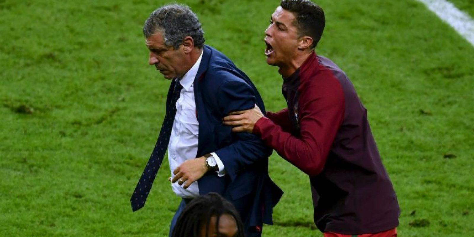 Así vivió Cristiano Ronaldo la final de la Euro 2016 Foto:Getty Images