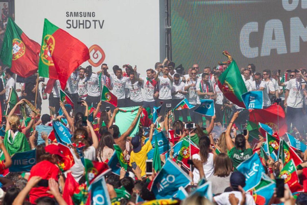 La celebración tuvo una tradicional y multitudinaria ceremonia Foto:Getty Images