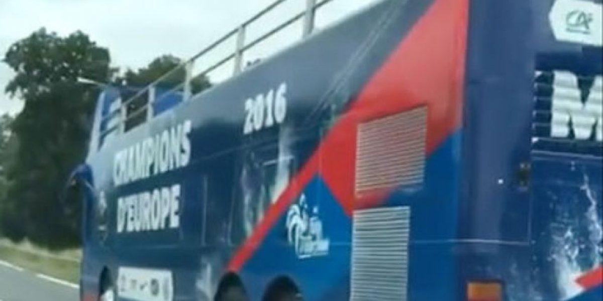 No pudo ser: El bus que tenía Francia para celebrar la Eurocopa