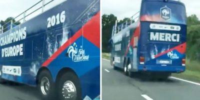 'Campeones de Europa', era la leyenda que tenía el medio de transporte para pasear a los posibles campeones Foto:Captura de pantalla