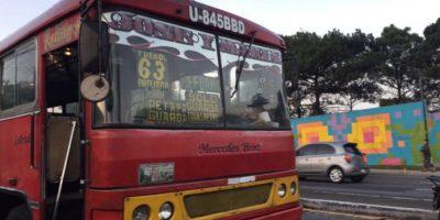 Soldado, piloto y pasajero son baleados en autobús ruta 63