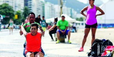 Atletas mexicanos de la marcha olímpica, como Jair Palma, ya se entrenan en el borde: El lugar recibirá pruebas de la modalidad. Foto:BRUNA PRADO / METRO RIO