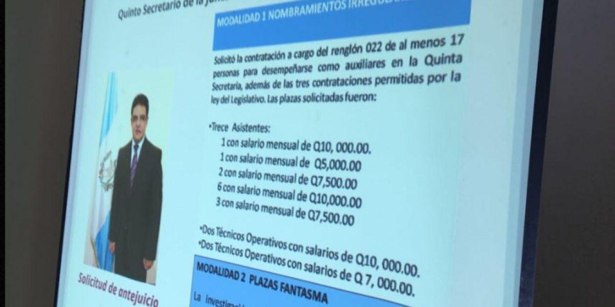 Fiscalía ratifica solicitud de antejuicio contra diputado Carlos López por caso de plazas fantasma