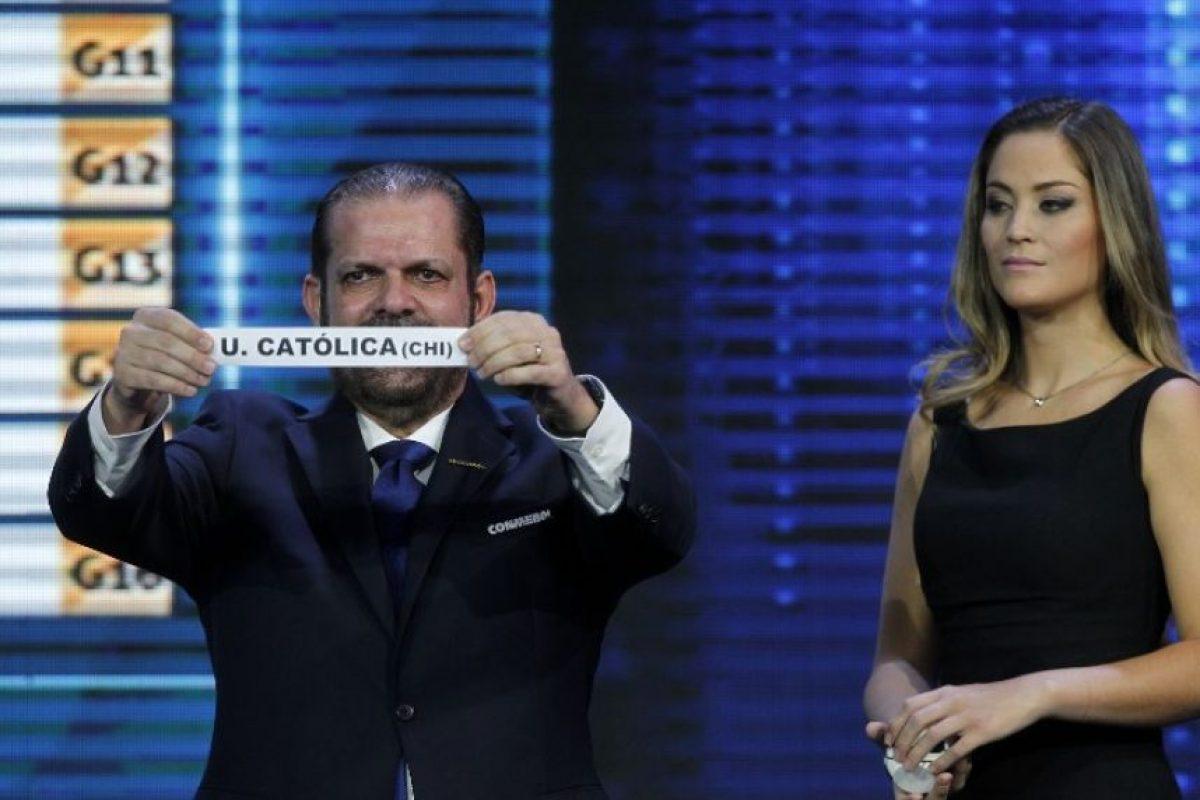 La semana pasada se realizó en Chile el sorteo de la Copa Sudamericana Foto:AFP
