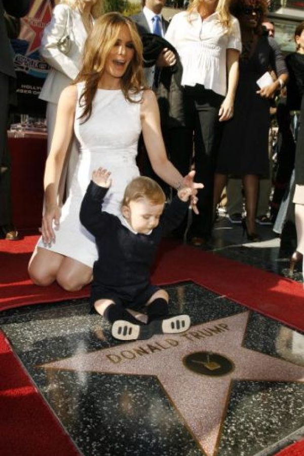 Producto de esa relación nació Barron, el hijo menor de Donald Trump Foto:Getty Images