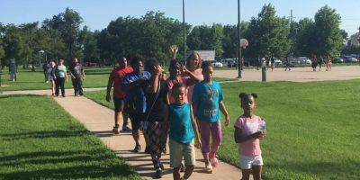 Acudieron familias afroamericanas de la zona Foto:Facebook.com/WichitaPolice