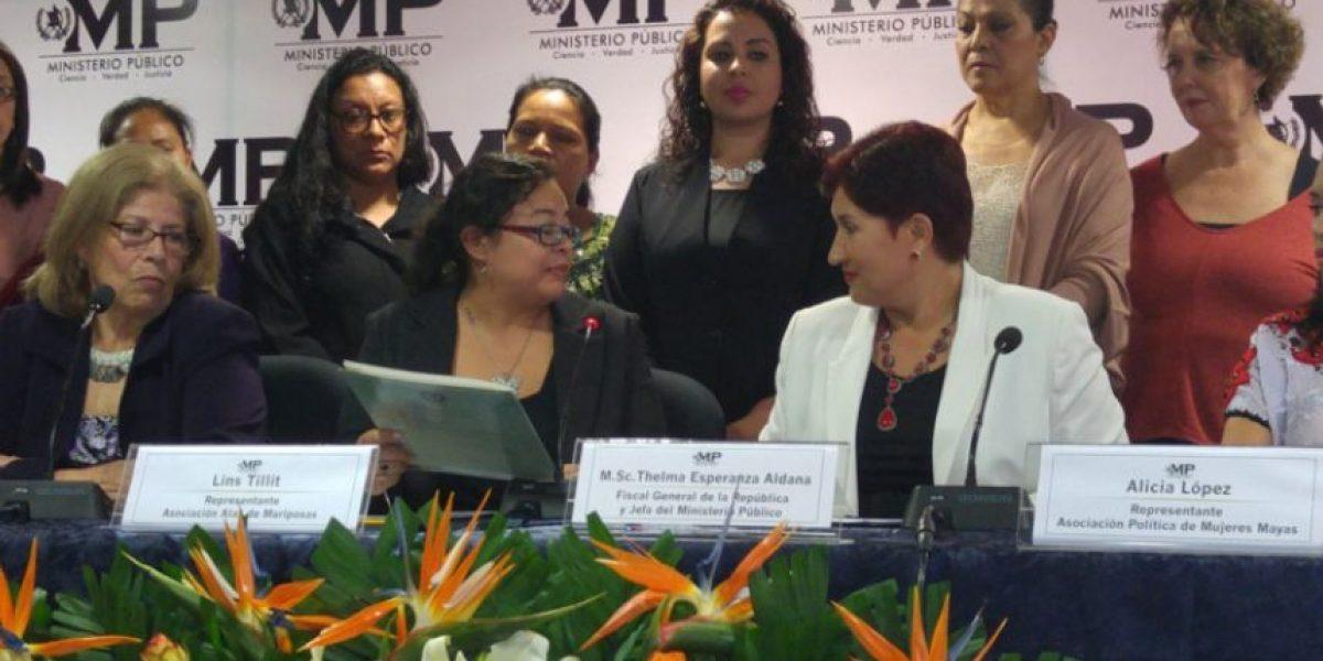 Organizaciones de mujeres respaldan a la Fiscal General