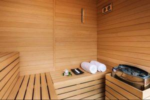 Además, cuenta con sauna Foto:Sitio web Pestana CR7