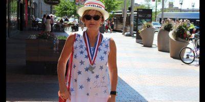 Los colores de la bandera estadounidense, azul, rojo y blanco estuvieron presentes en los atuendos de los asistentes. Foto:Publimetro