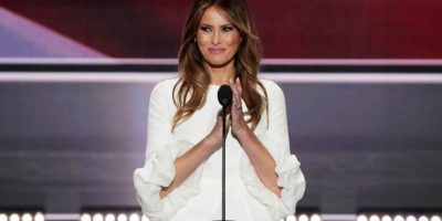Durante la Convención Nacional Republicana, su esposa Melania Trump también fue el blanco de críticas debido a la similitud de su discurso con el que ofreció Michelle Obama en el 2008. Foto:Getty Images