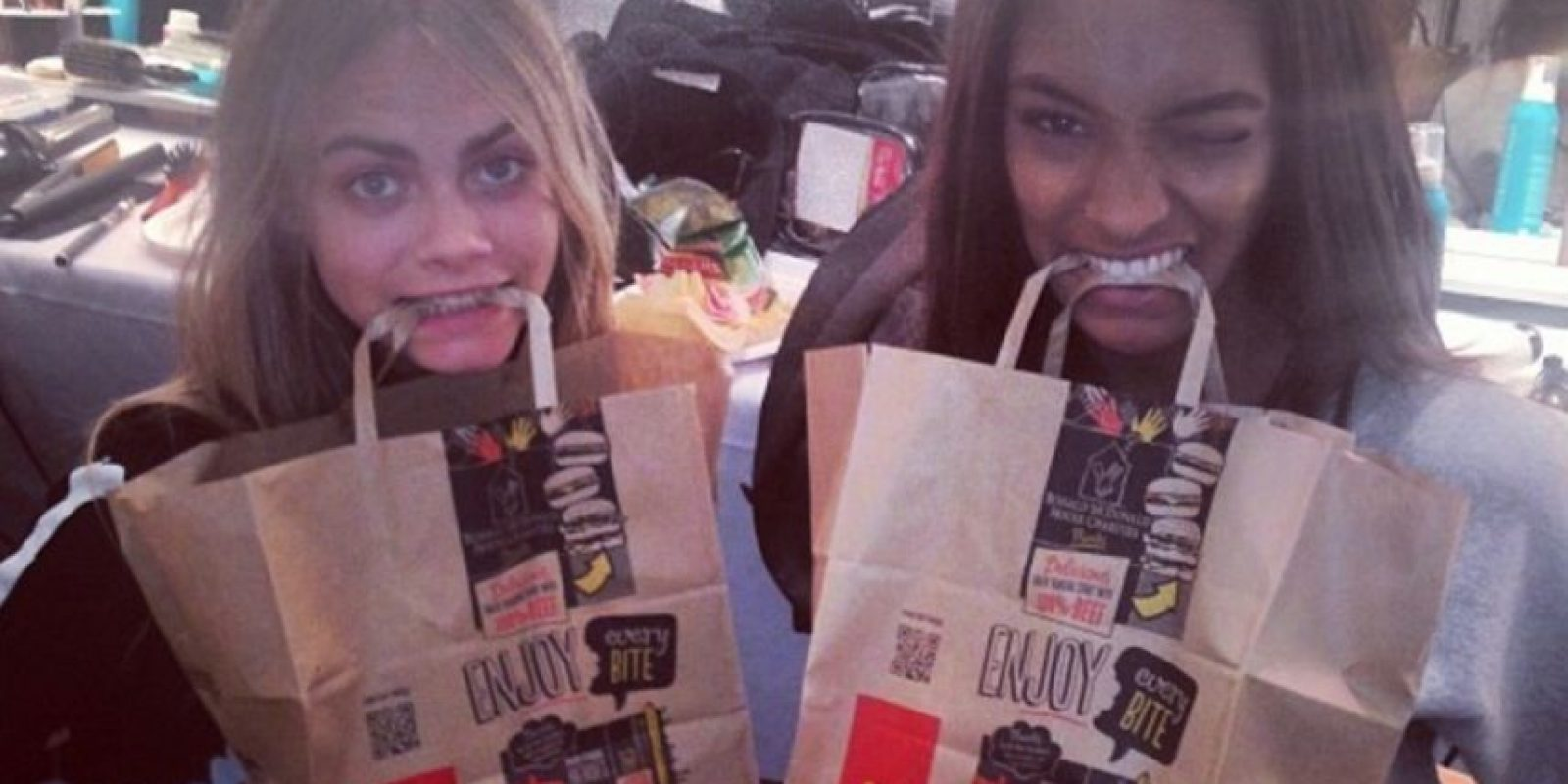 Con Jourdan Dunn  Foto: Instagram