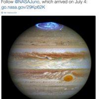 2. Júpiter también tiene auroras boreales Foto:Twitter.com/NASA