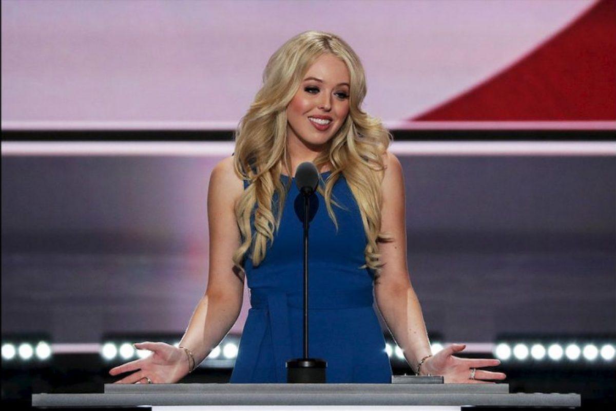 Tiffany Trump, fue otra de las oradoras de la familia durante la convención republicana. Se dice que es una estrategia para presentar la cara tierna del candidato republicano oficial. Foto:Getty Images