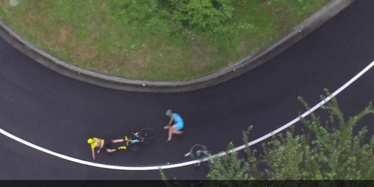 VIDEO. Captan momento de la caída de Froome, líder del Tour de Francia