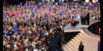 Enumeró sus promesas de campaña y reiteró lo que sería su programa de gobierno rumbo a la Casa Blanca. Foto:Publimetro