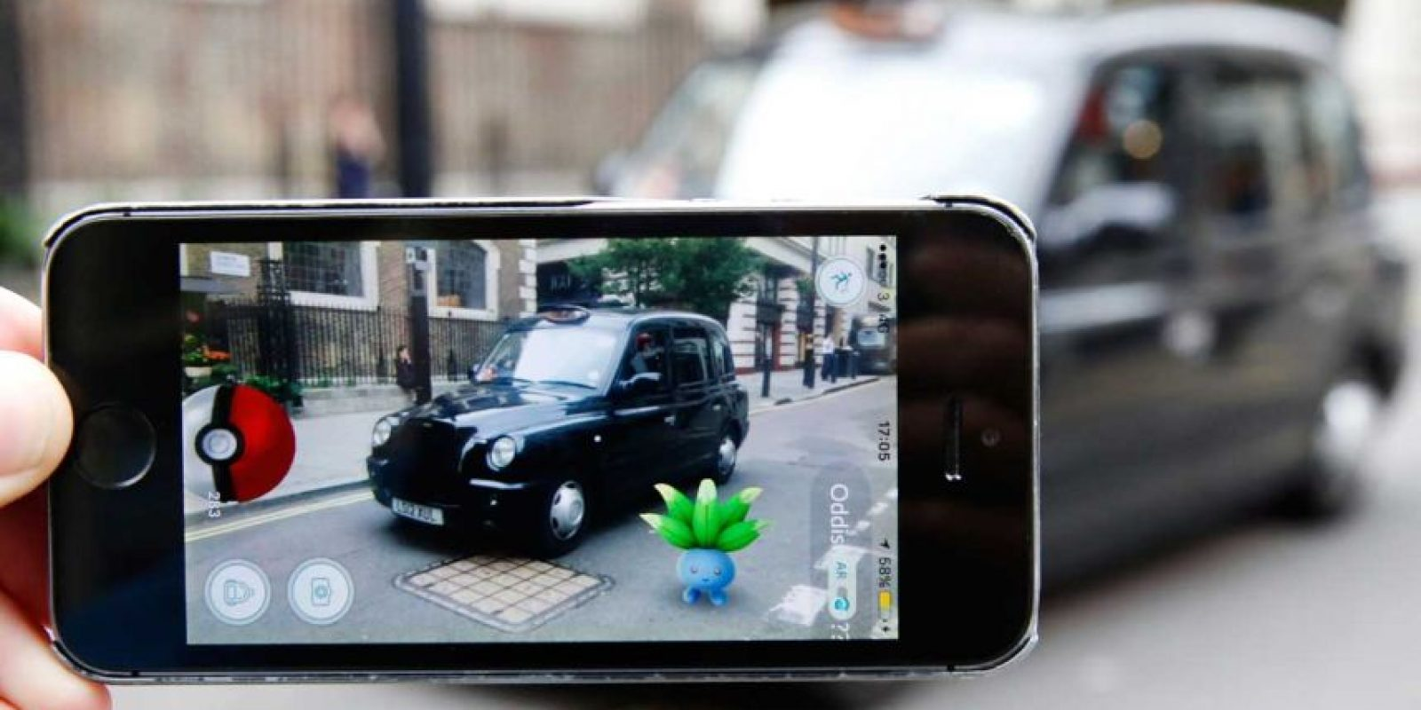 """Pokémon Go"" en Inglaterra. Foto: Getty Images"