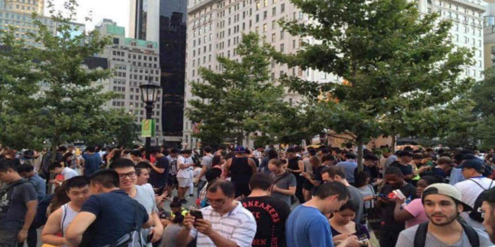 Gente de todas las culturas jugando en Central Park. Foto:Twitter