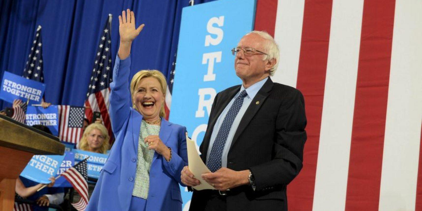 Hillary Clinton y Bernie Sanders, los precandidatos presidenciales del Partido Demócrata Foto:Getty Images