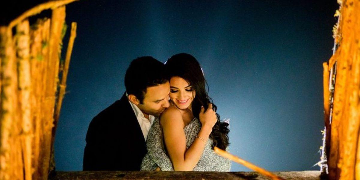 Las fotos de la luna de miel de Carlos Peña junto a la presentadora Christa García