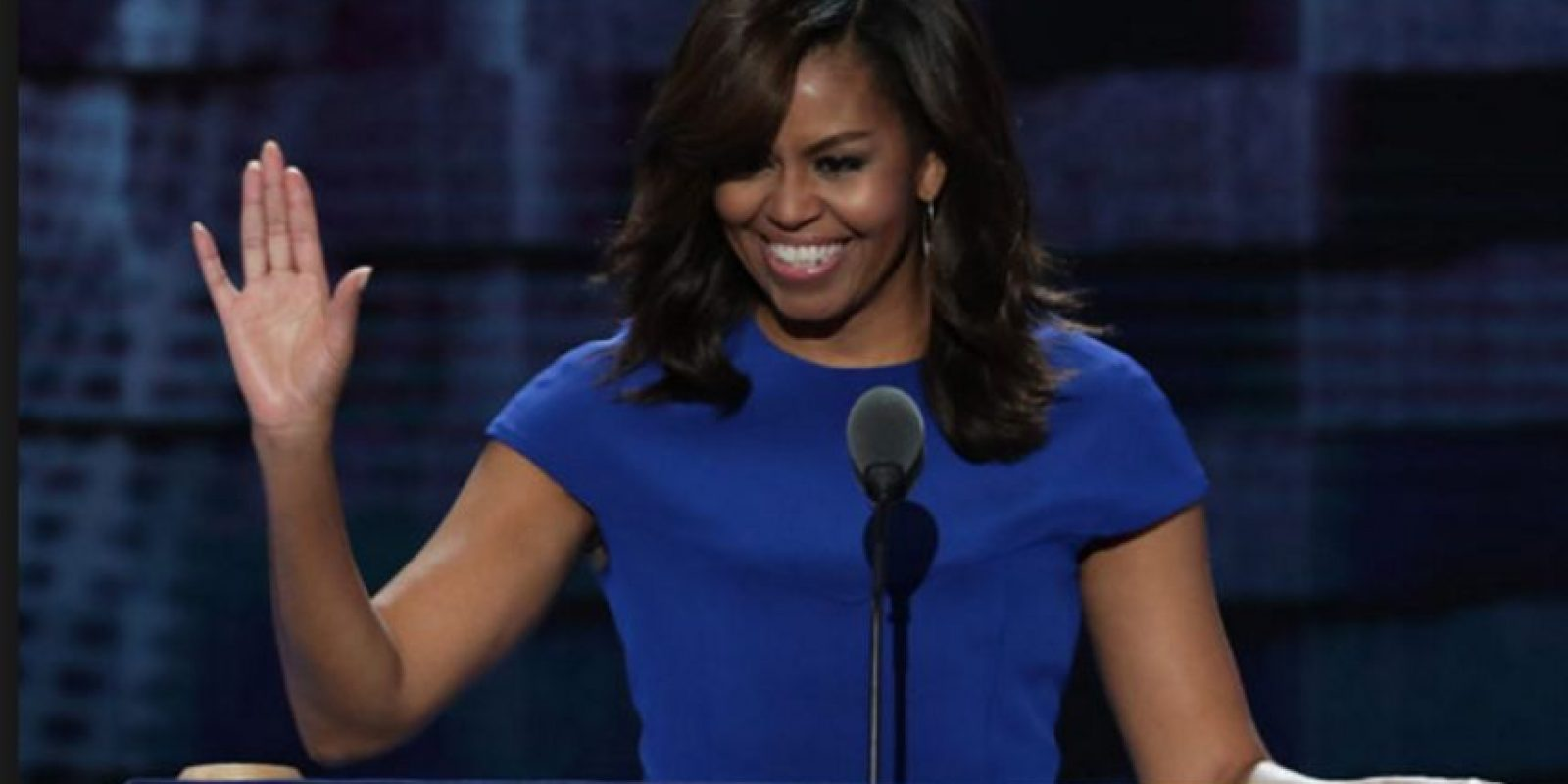 Michelle Obama dio un inspirador discurso.  Foto: Getty Images