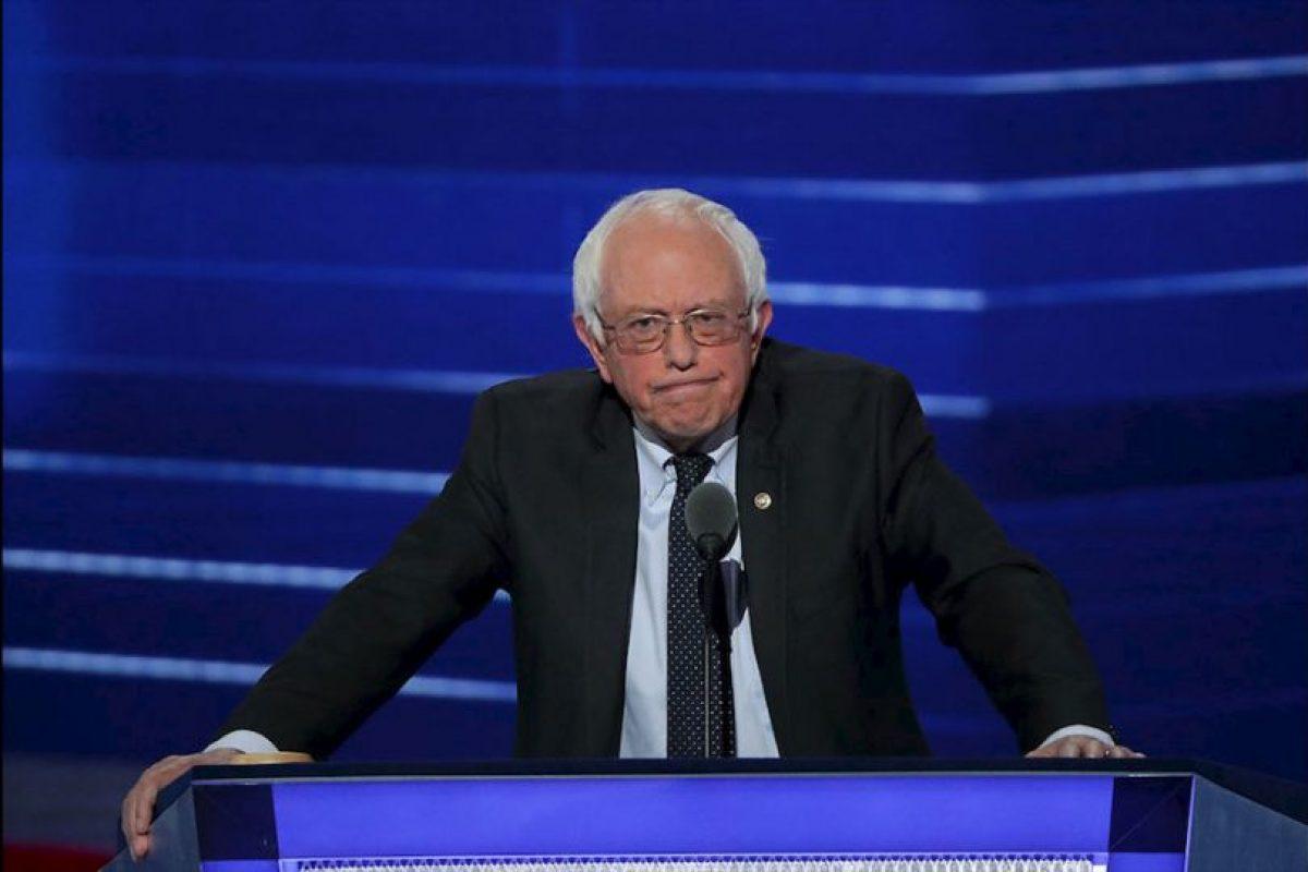 Bernie Sanders no logró calmar a sus simpatizantes que no quieren a Hillary Clinton como candidata oficial demócrata, sino a él. Foto:Getty Images